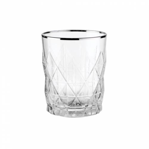 ATLANTIS pohár ezüst szegéllyel 345ml