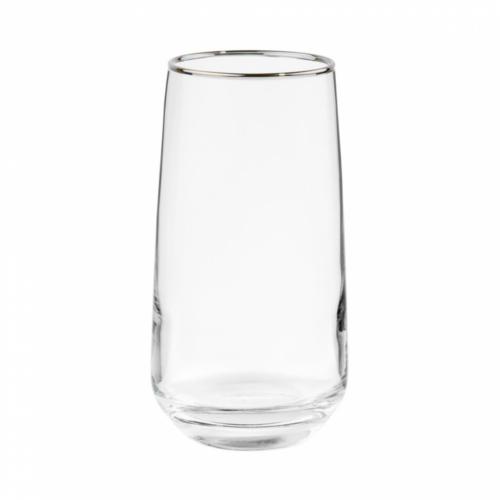 TOUCH OF SILVER üvegpohár ezüst szegéllyel 480ml