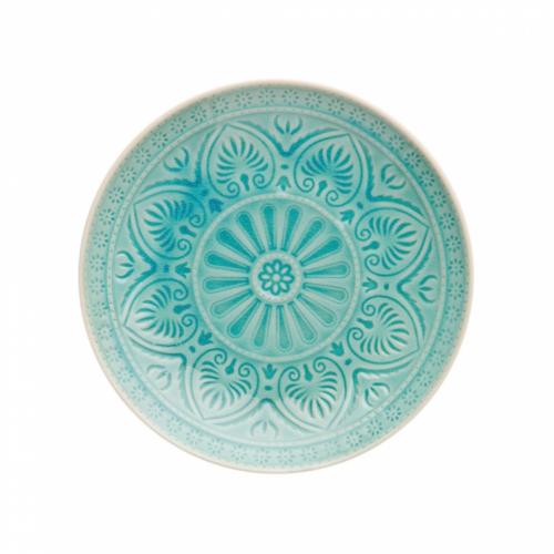 SUMATRA tányér 25cm türkiz