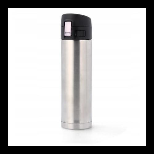 350 ml-es ezüst színű termosz