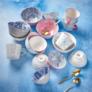 Kép 5/5 - ORNAMENTS tálka kék/pink ezüst szegéllyel 240ml