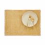 Kép 1/3 - RAW CANVAS alátét rojtokkal sárga