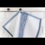 Kép 4/4 - TEA Konyharuha fehér alapon sötétkék mintával 50*70 cm