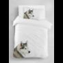 Kép 1/2 - DOGGY Egyszemélyes  ágyneműhuzat fehér alapon husky kutya mintával 140*200 cm + 70*90 cm párnahuzat