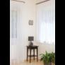 Kép 1/3 - CINTIA Fehér színű virágmintás készfüggöny ráncolóval, akasztóval és bújtatóval 300*255 cm