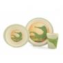 Kép 1/6 - Yuunaa bambusz gyerek étkészlet - krokodil