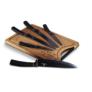 Kép 1/3 - Berlinger Haus 6 részes késkészlet bambusz vágódeszkával, rose gold-fekete