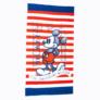 Kép 2/2 - Mickey egér gyerek strandtörölköző - gyorsan száradó strandtörölköző - piros-fehér csíkos