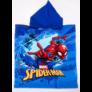 Kép 2/2 - Pókember gyerek poncsó - gyorsan száradó kapucnis törölköző - kék